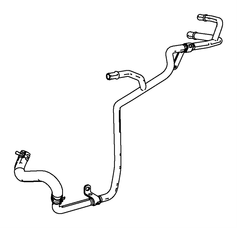 Dodge Journey Used for: HOSE AND TUBE. Heater Return