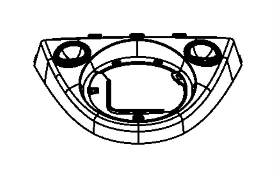 Fiat 500C Bezel. Gear shift indicator. [5-spd manual