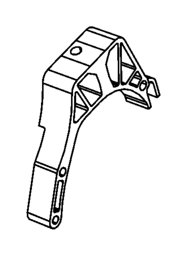 Fiat 500C Bracket. Engine mount. [5-spd c514 manual