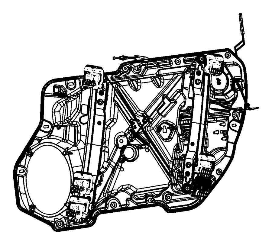 2011 Chrysler 300 Rod. Lock. Right. Door, module