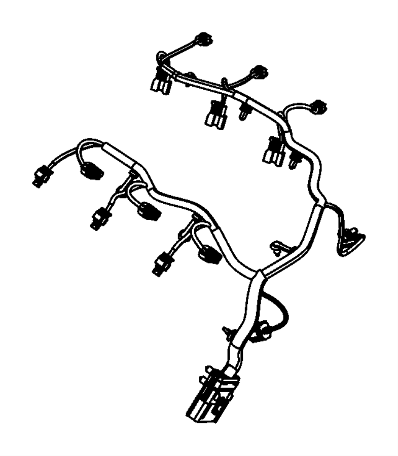2017 Jeep Cherokee Wiring. Injector. After 07/19/10, after