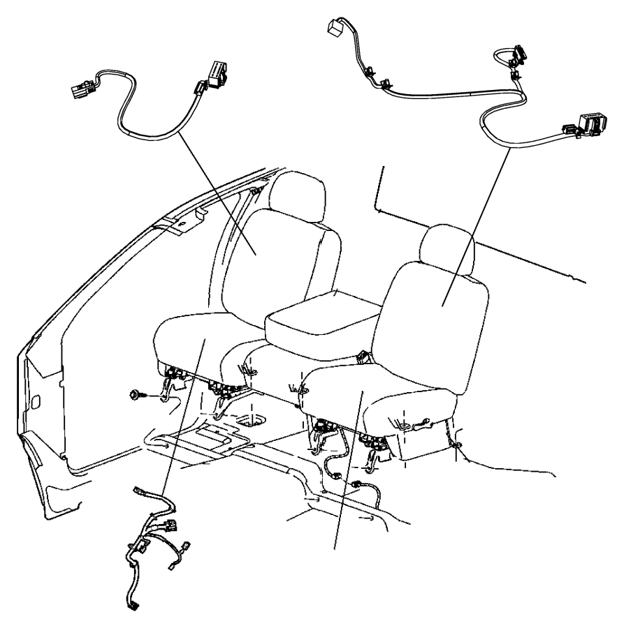Dodge Ram 1500 Wiring. Power seat. Right. Trim: [premium