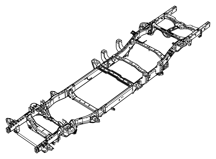 2009 Dodge Ram 1500 Rail kit. Left front. Engines