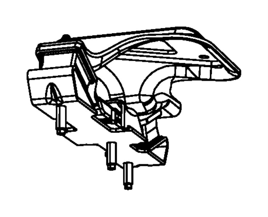 2010 Dodge Ram 1500 Bracket. Transmission mount