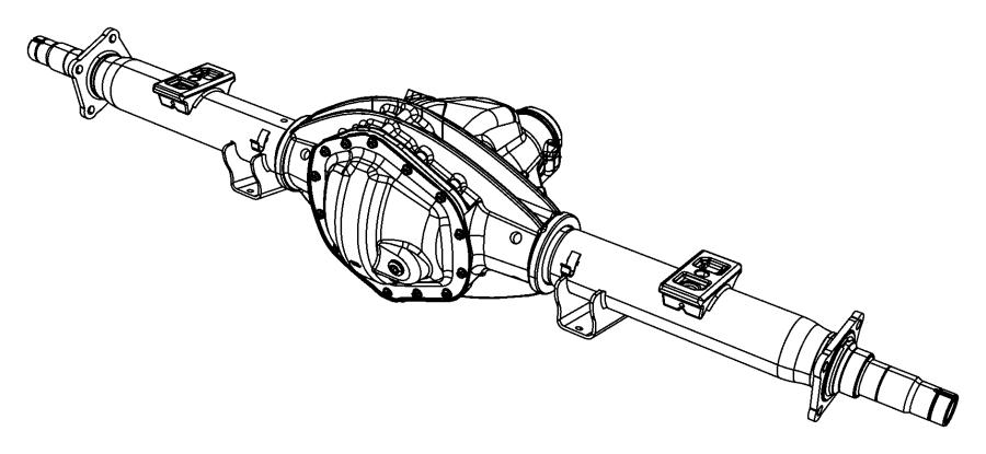 2012 Dodge Ram 2500 Axle. Service rear. [3.73 axle ratio