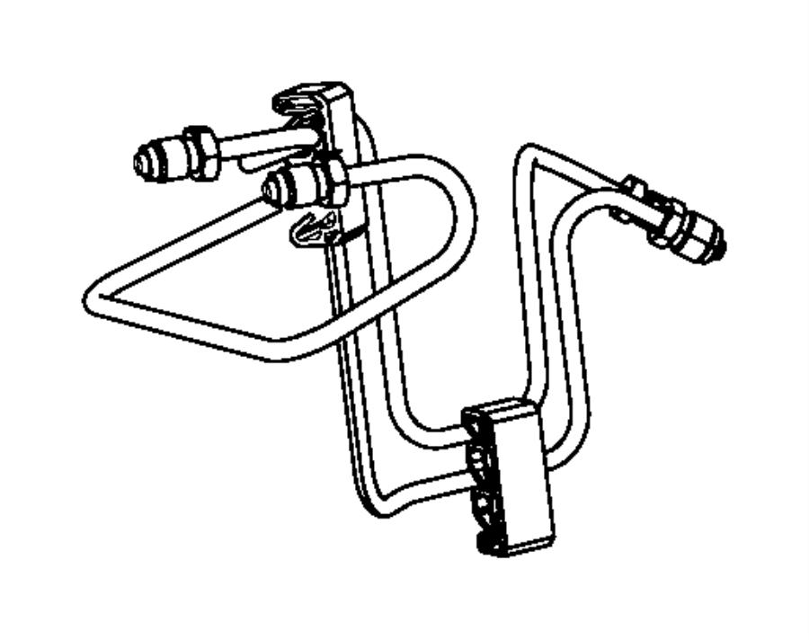Dodge Ram 2500 Tube assembly, brake. Master cylinder to