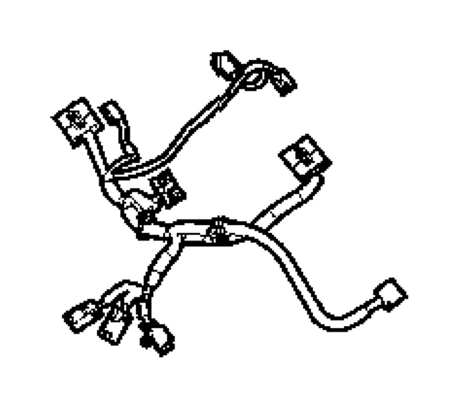 2011 Dodge Ram 2500 Wiring. Seat. Left. Drivers manual tag