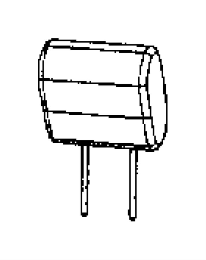 Jeep Wrangler Headrest. Rear. Trim: [prem leather trimmed