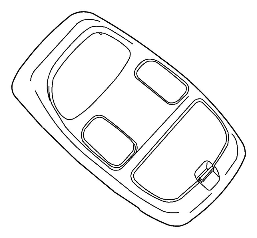 Dodge Ram 3500 Bezel. Overhead console. Trim: [all trim