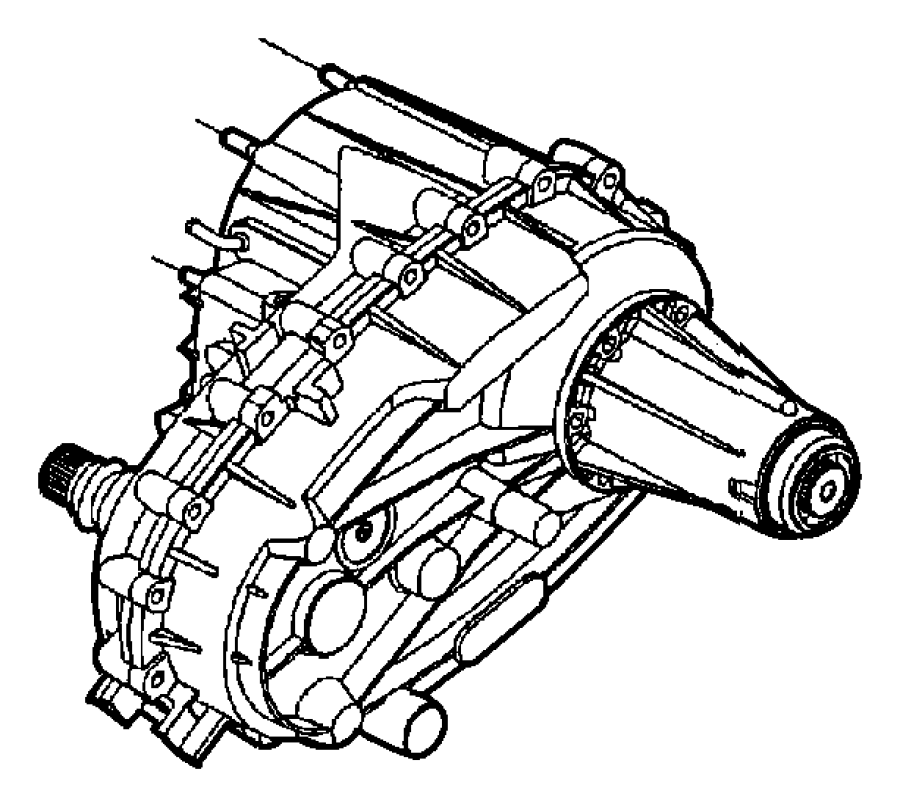 Dodge Ram 4500 Transfer case. Nvg273. Manual transmission
