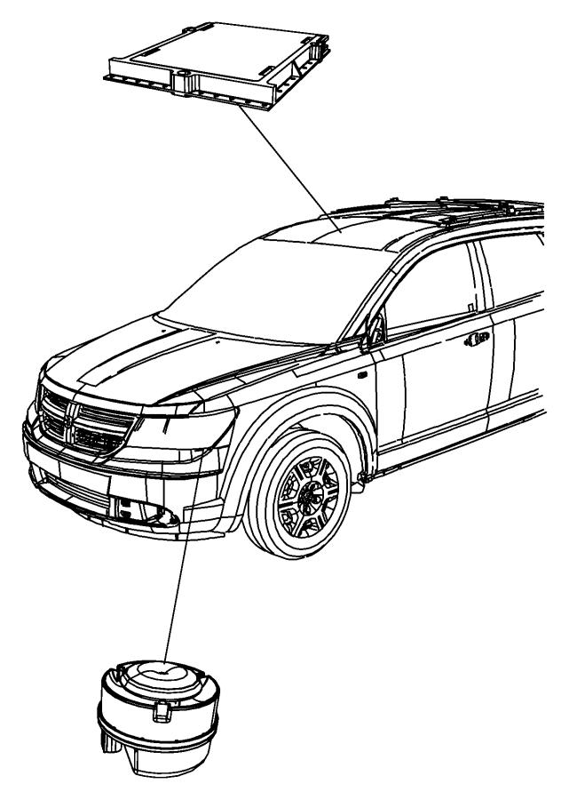 2011 Dodge Journey Module. Alarm. After 11/12/2010, itm