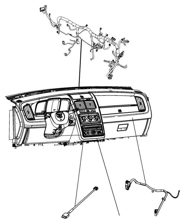 2014 Dodge Journey Wiring. Jumper. Telematics module