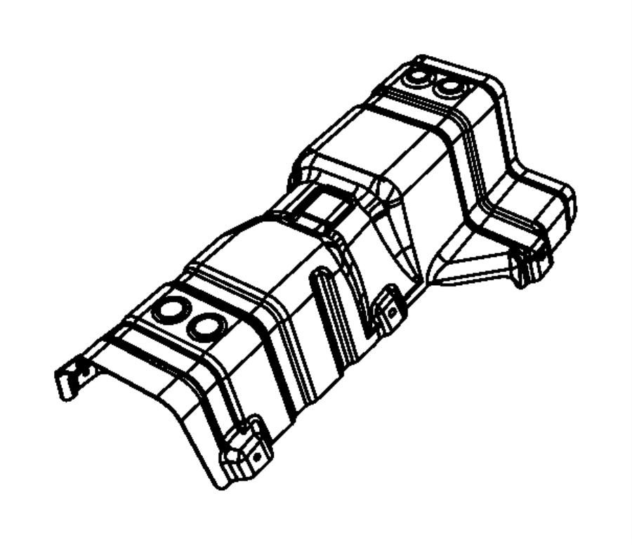 2014 Dodge Journey Shield. Exhaust, floor pan. Tailpipe