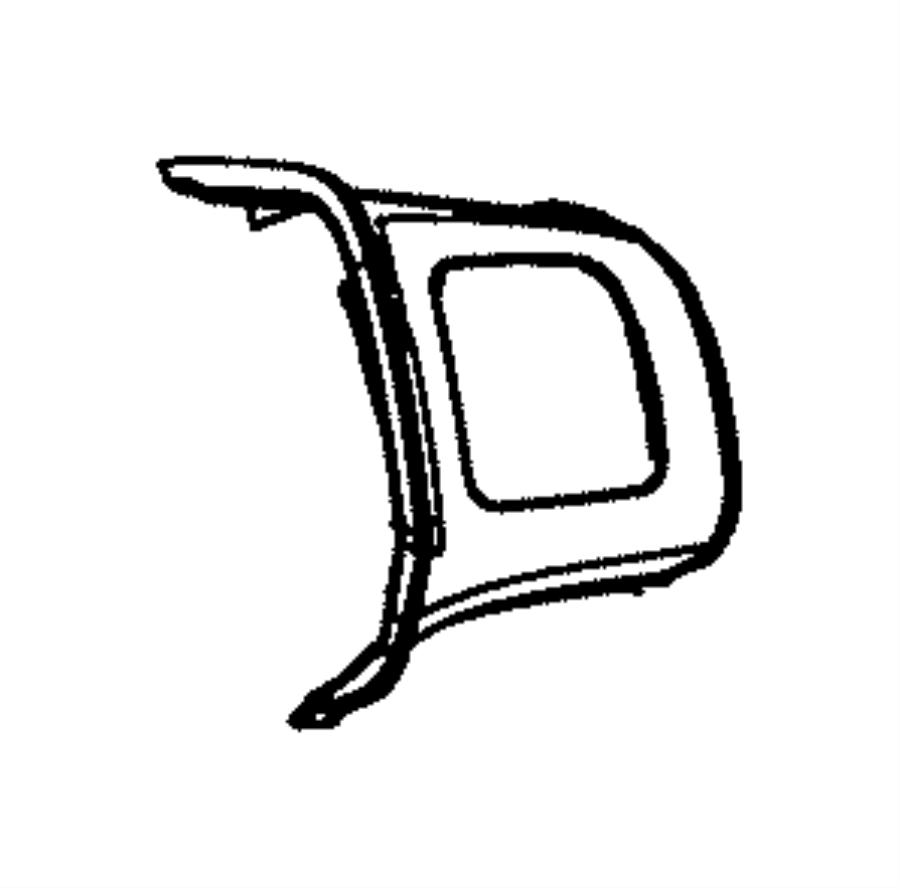 2012 Dodge Journey Bezel. Steering wheel. Right. Trim: [no