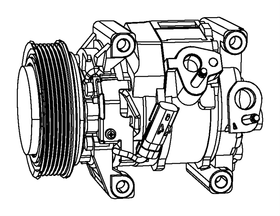 2013 Dodge Journey Compressor. Air conditioning. Heater