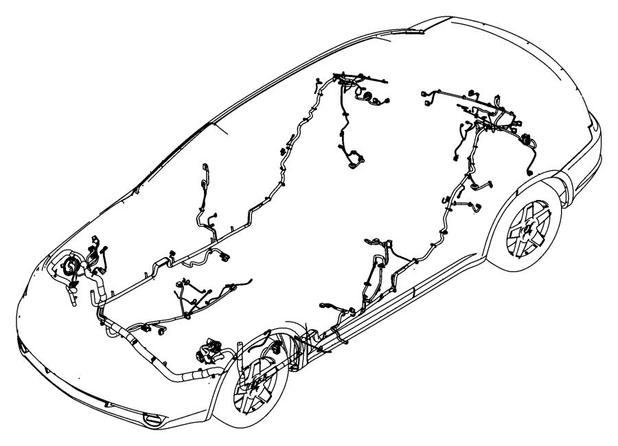 Chrysler 200 Wiring. Unified body. Sirius, satellite