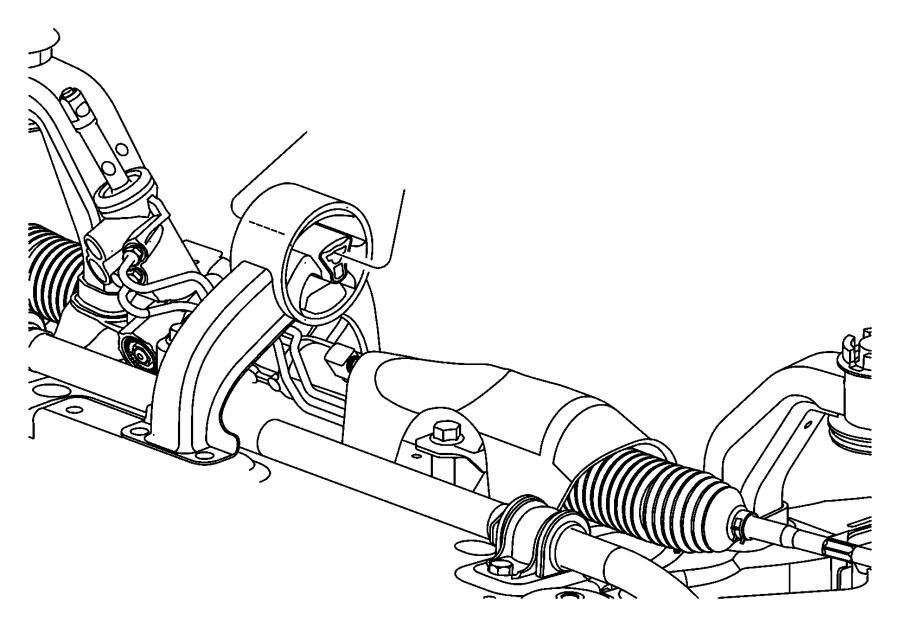 Chrysler Sebring Bushing, engine mount. Isolator. Rear