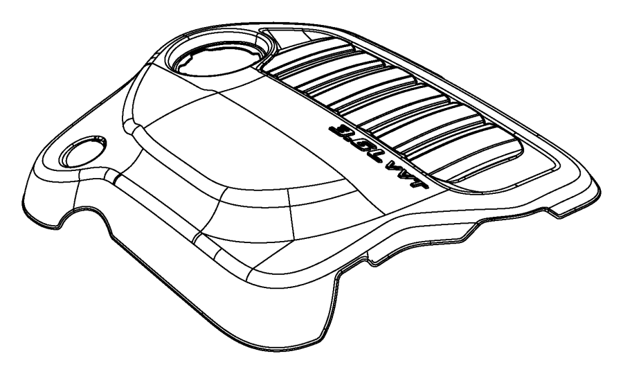Dodge Avenger Cover. Engine. [r/t enhanced intake note