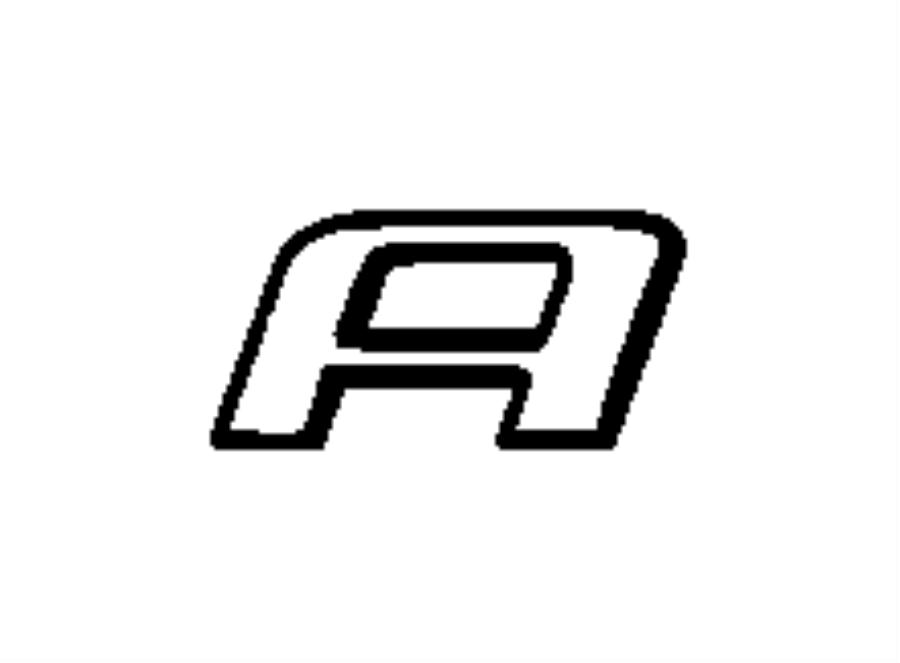 Dodge Avenger Nameplate. Decklid. Avenger. Left. [dodge