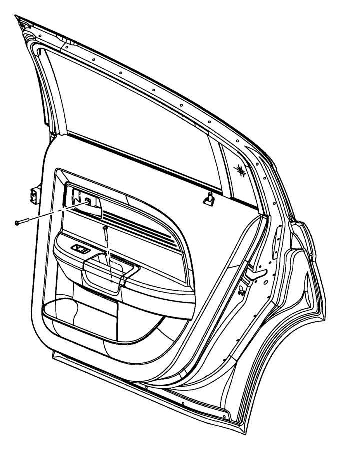 2012 Dodge Avenger Panel. Rear door trim. Left. [black