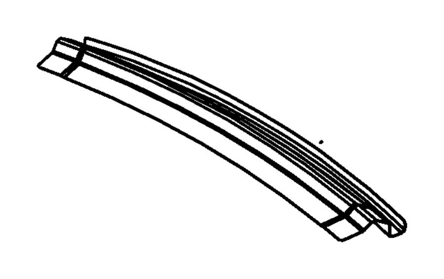 2007 Dodge Avenger Reinforcement. Shelf panel rear. Body