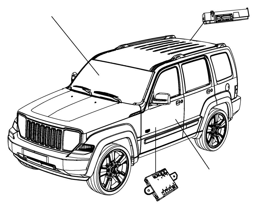 Jeep Liberty Module. Telematics. Voice, uconnect, command