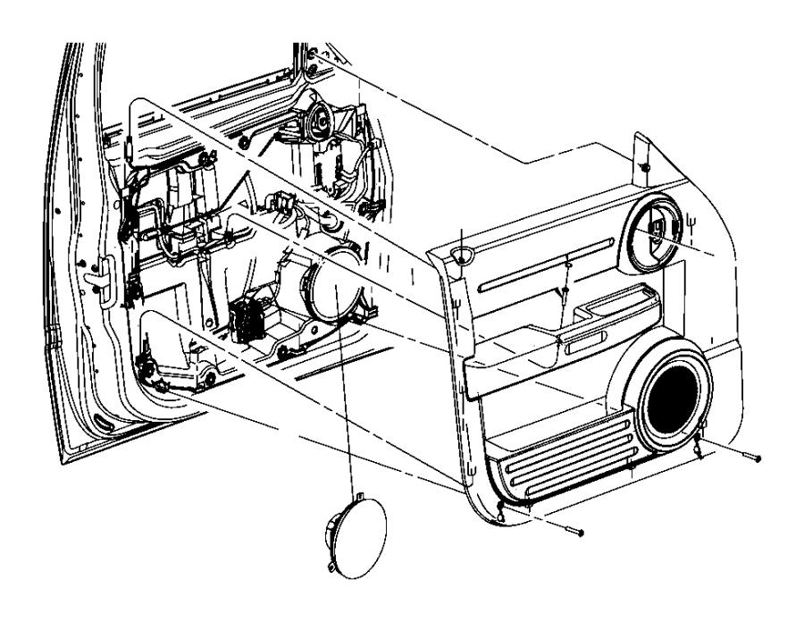 2008 Dodge NITRO Speaker. 6.5. Door, left front door, left