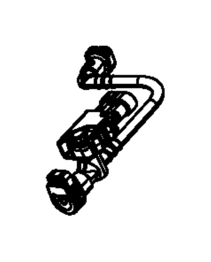 2014 Jeep Patriot Tube. Fuel vapor recirculation. Tank