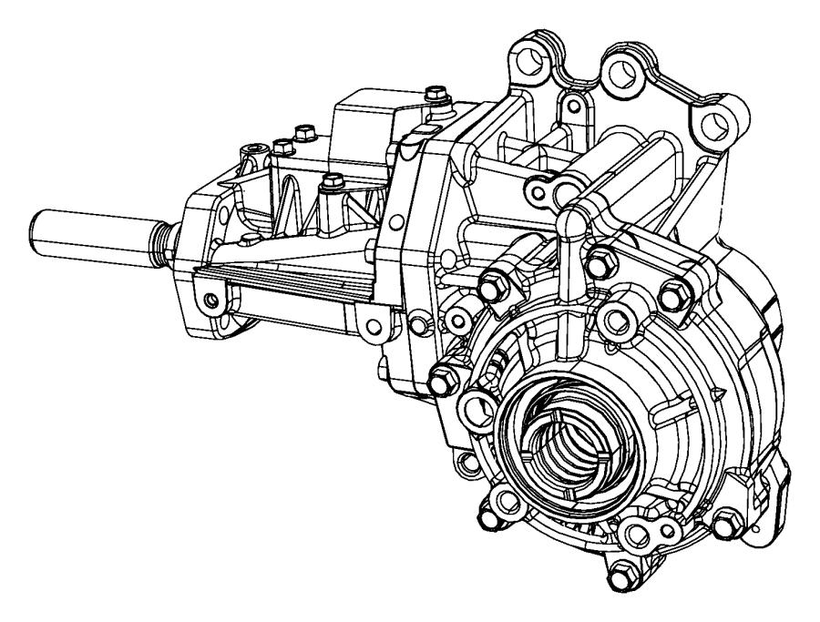2010 Jeep Compass Power transfer unit. Train, module
