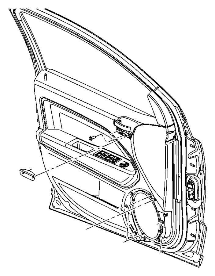 2011 Jeep Compass Panel. Front door trim. Left. [dk]. Trim