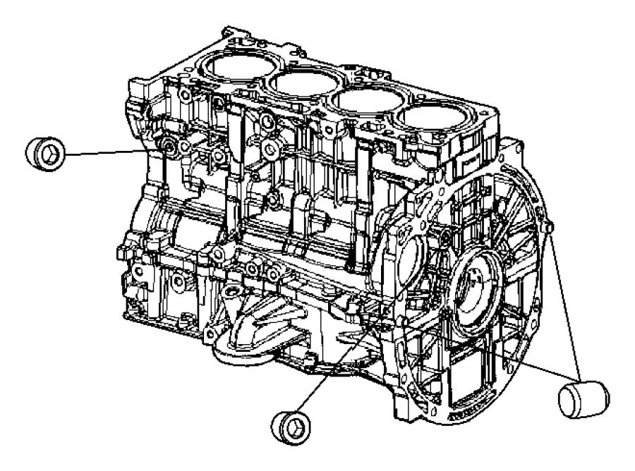 Dodge Avenger Plug. Cylinder block oil hole. Engine