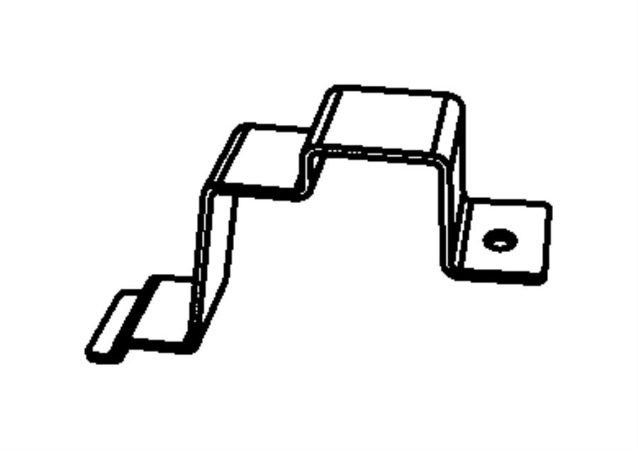 2013 Jeep Wrangler Bracket. Engine control module