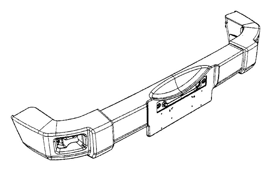 2012 Jeep Wrangler Bumper. Rear. [mopar hd rear bumper