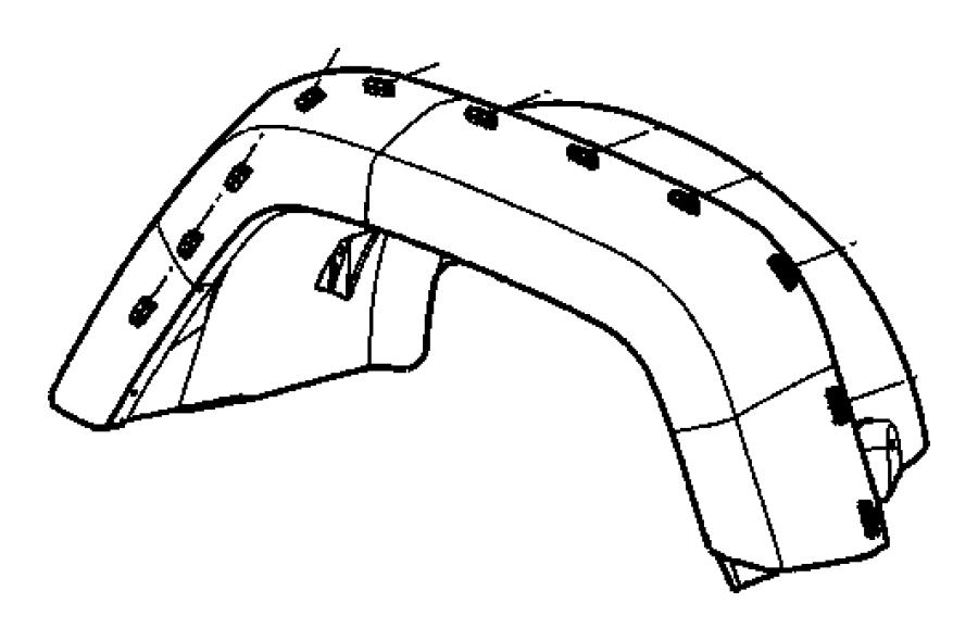 2011 Jeep Wrangler Clip. Applique. Arrow head. [body color