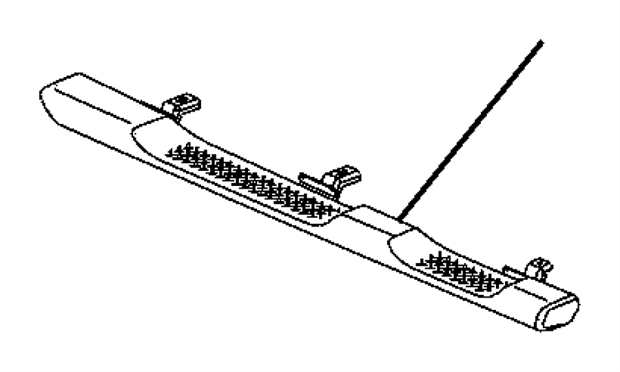 2014 Jeep Wrangler Step pad. Side step. Right. [tubular