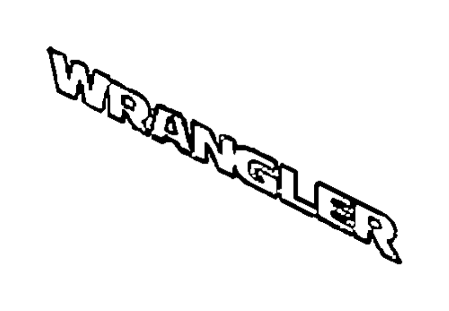 2015 Jeep Wrangler Decal. Wrangler. Color: [no description