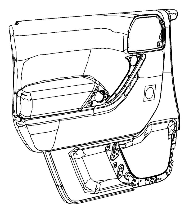 Jeep Wrangler Panel. Front door trim. Right. Trim: [no