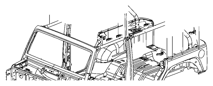 Jeep Wrangler Retainer. Hard top enclosure. Top to body