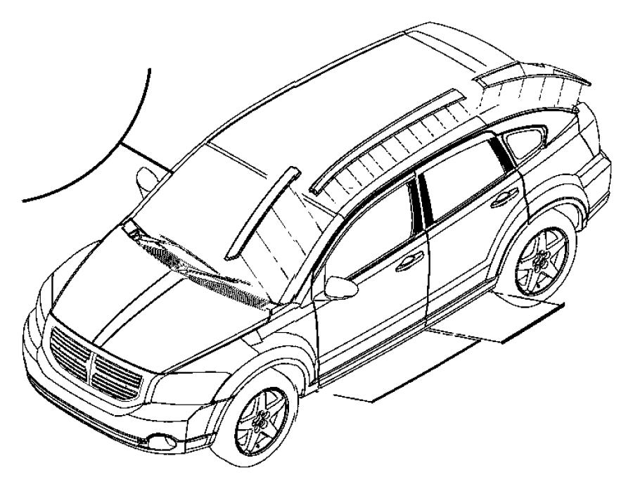2009 Dodge Caliber Applique. A pillar. Right. Color: [no