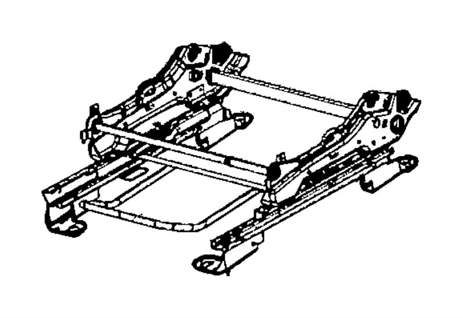 2010 Dodge Caliber Adjuster. Manual seat. Mexico. Trim