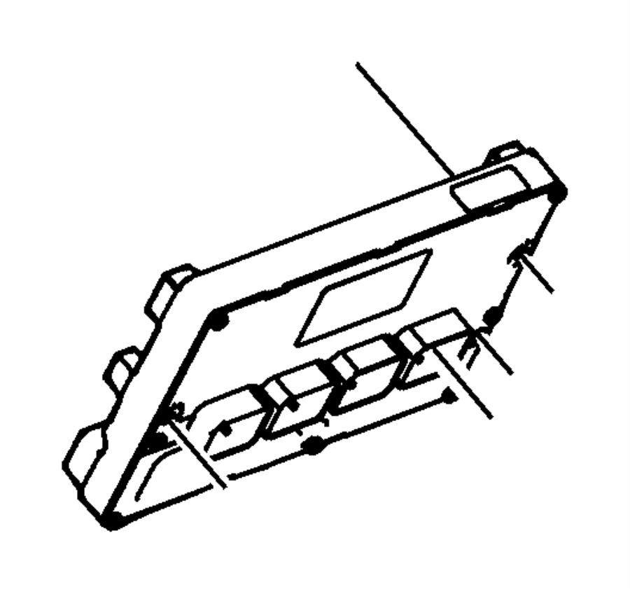 2012 Chrysler Town & Country Module. Powertrain control