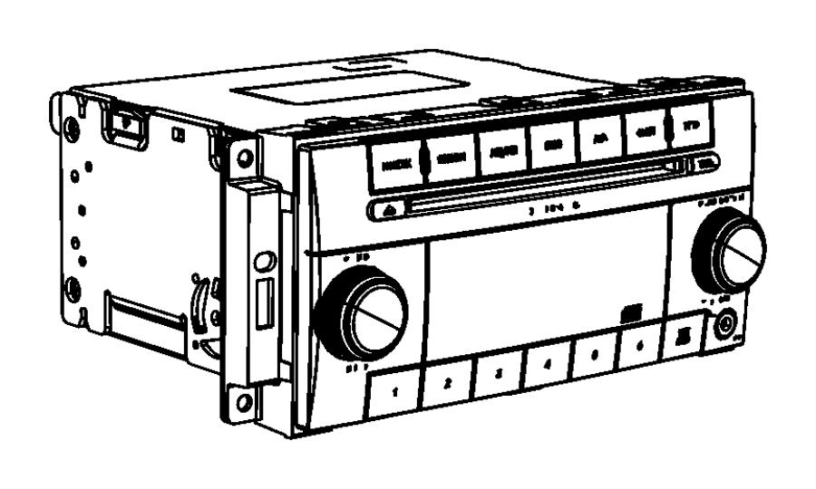 2012 Dodge Ram 2500 Radio. Multi media. Module, instrument