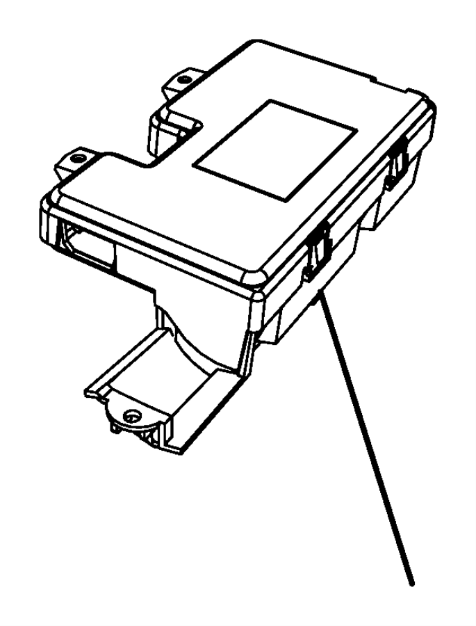 2011 Dodge Challenger Module. Compass temperature. Trim