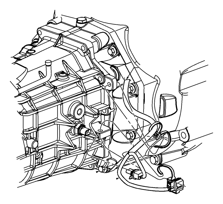 2011 Dodge Challenger Wiring. Transmission. [6-speed