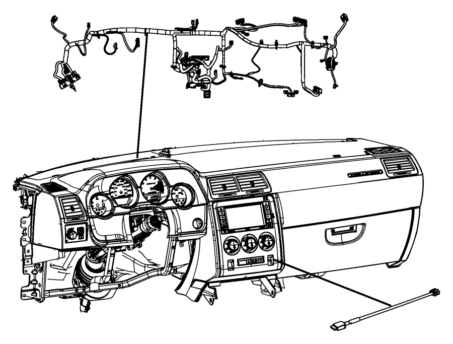 Dodge Challenger Wiring. Instrument panel. Acoustics
