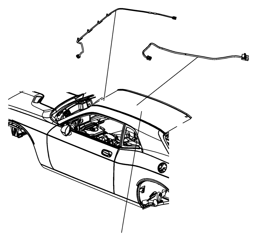 2013 Dodge Challenger Wiring. Mirror jumper. [rr view auto