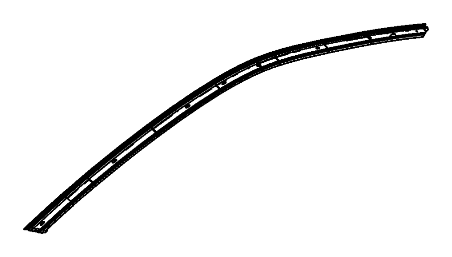 2011 Dodge Challenger Seal. Left. Weatherstrips