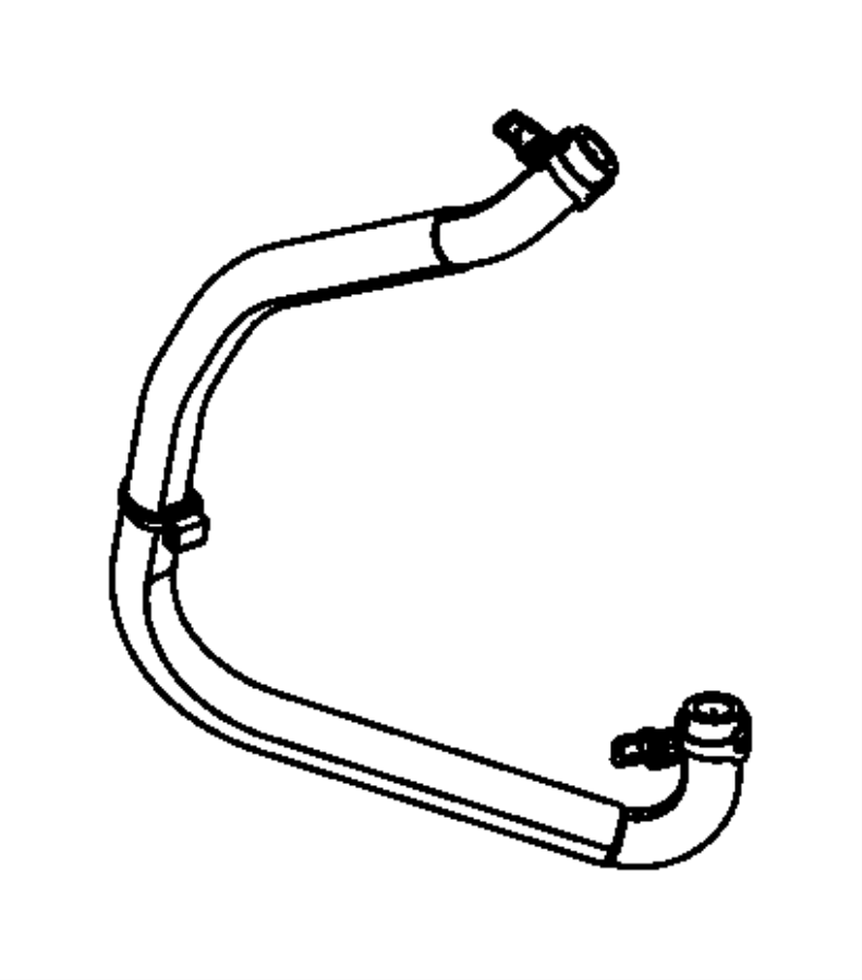 2015 Chrysler 300 Hose. Engine coolant to oil cooler