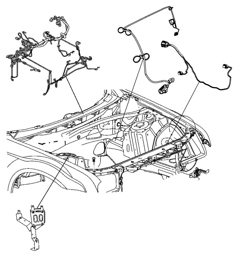 2013 Chrysler 300 Wiring. Transfer case jumper. Dash