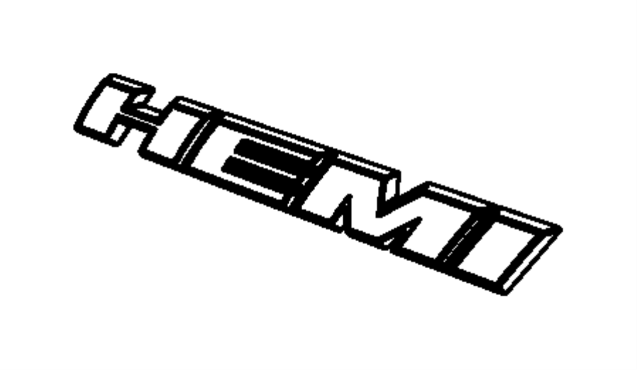 2016 Dodge Challenger Nameplate. Hemi. Right or left